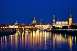 Dresden-from-Albertbruecke Wikimedia Commons