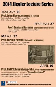 Ziegler Series overview Jan-April 2014