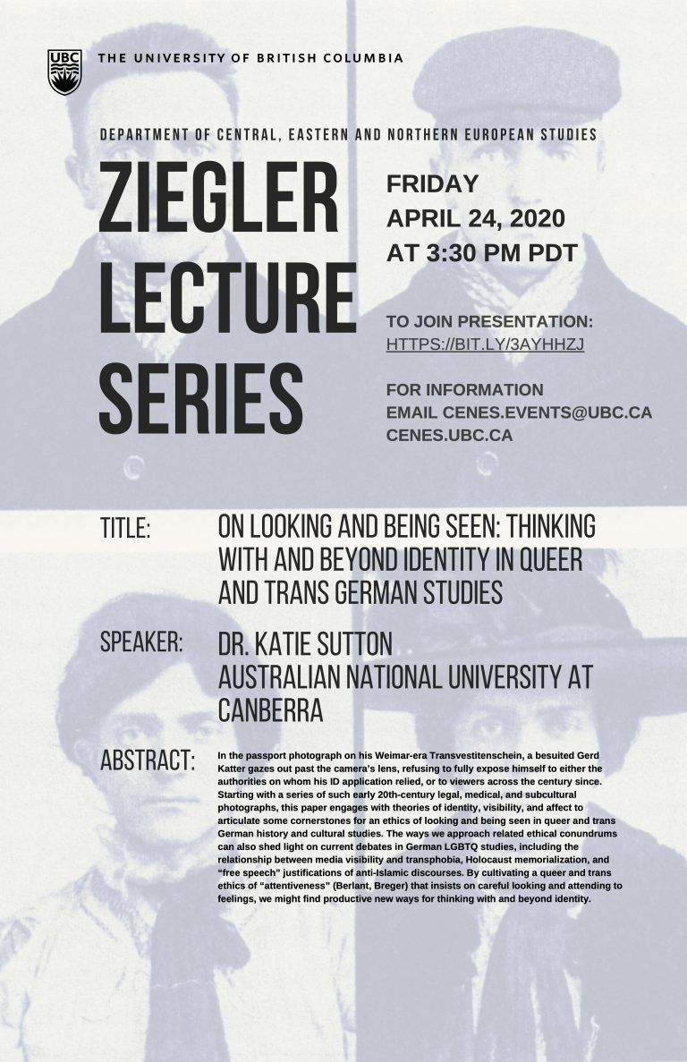 Poster for Katie Sutton Ziegler Lecture
