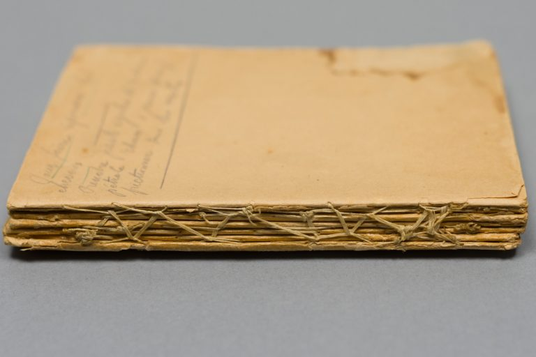 Photo of a handmade book in the collection of the Vancouver Holocaust Education Centre